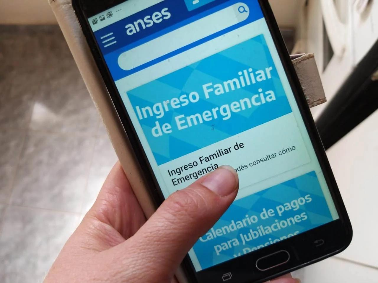 ife ingreso familiar de emergencia anses celular